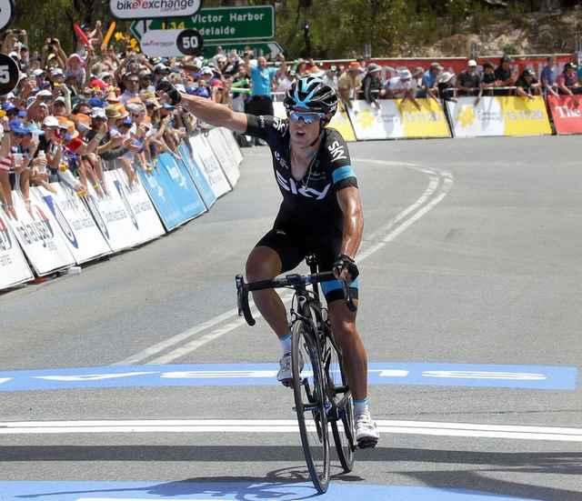 Tour down under porte vince in vetta a willunga hill for Porte richie